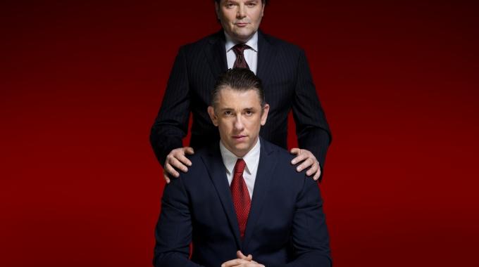 Waldemar Torenstra en Victor Löw in toneelversie Advocaat van de duivel
