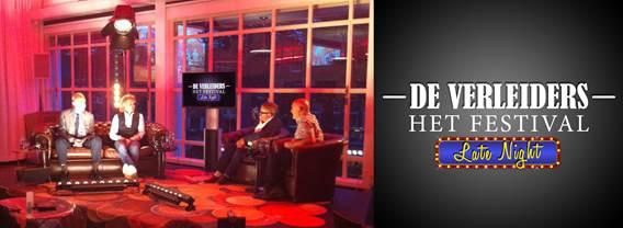 DE VERLEIDERS organiseren eigen live Late Night talkshow tijdens festival in Stadsschouwburg Utrecht