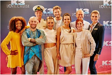Complete cast K3 Love Cruise gepresenteerd op Rotterdamse filmset