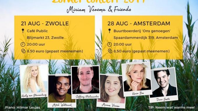 Miriam Venema en Friends geven Zomer concert