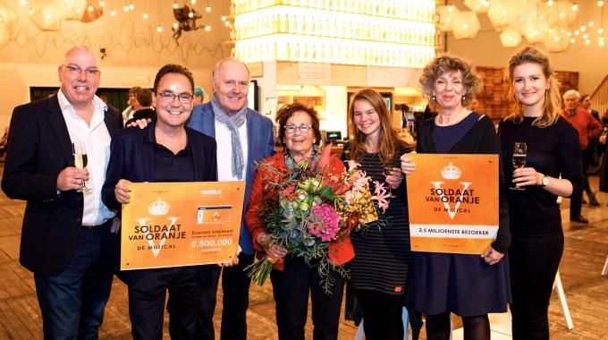 Soldaat van Oranje – De Musical ontvangt 2,5 miljoenste bezoeker