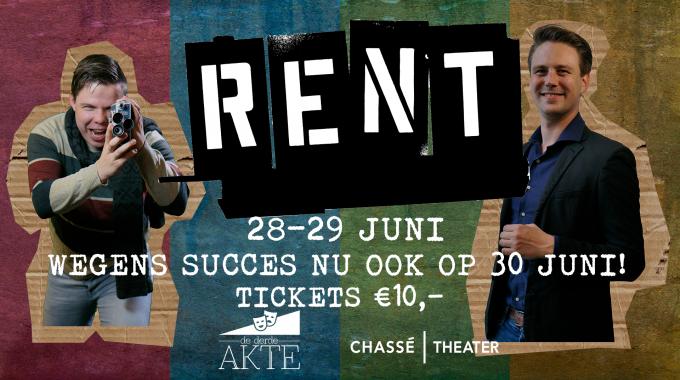Getalenteerde jongeren brengen RENT naar het Chassé Theater