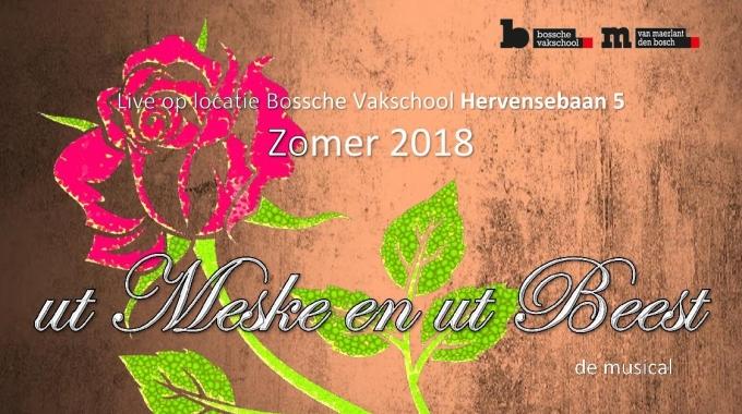 Leerlingen Bossche Vakschool & Van Maerlant spelen musical ut Meske en ut Beest