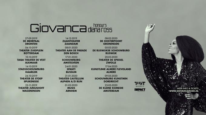 Giovanca eert Diana Ross in nieuwe theatervoorstelling