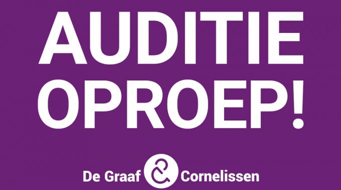 Auditieoproep nieuwe grote musical De Graaf & Cornelissen – seizoen 20/21