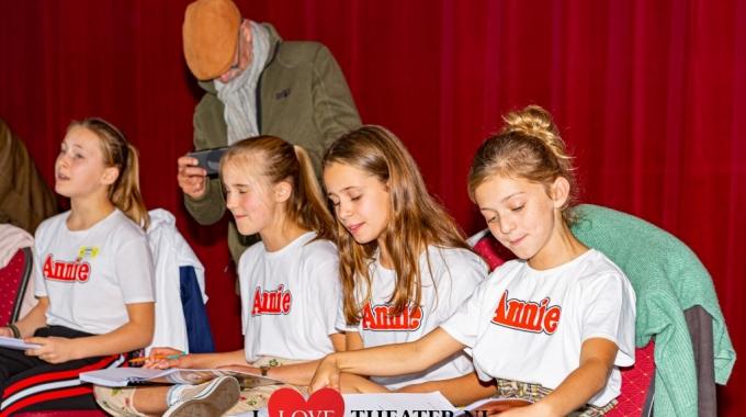 zangrepetitie kindercast 'Annie, de Musical' – FotoReportage
