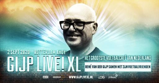 René van der Gijp met GIJP Live! XL naar Rotterdam Ahoy