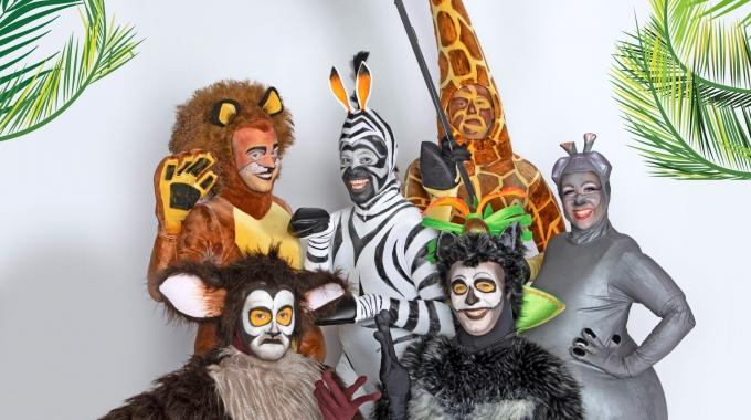 Zo ziet de beestige hoofdcast van 'Madagascar, de Musical' eruit
