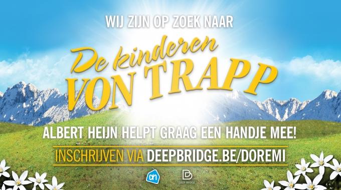 The Sound of Music organiseert tijdens de krokusvakantie in Hasselt, Antwerpen, Sint-Niklaas, Kortrijk, Gent en Wijnegem audities voor de Von Trapp-kids