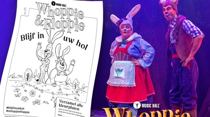 Hilarische West-Vlaamse sprookjesboskonijnen  Whoppie en Floppie lanceren eigen kleurplaten én website!