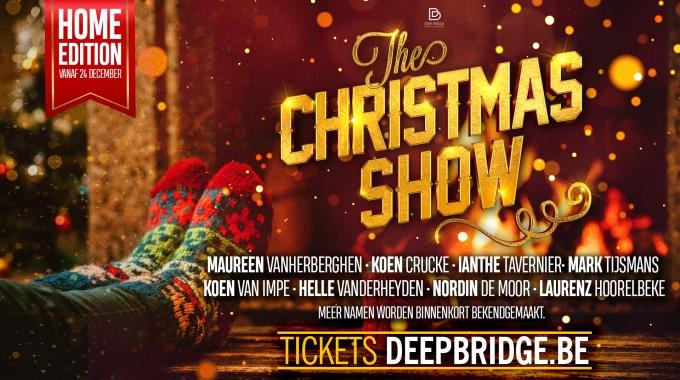 Maureen, Ianthe Tavernier, Nordin de Moor, e.v.a. zingen op kerstavond tijdens de Home Edition van 'The Christmas Show'.