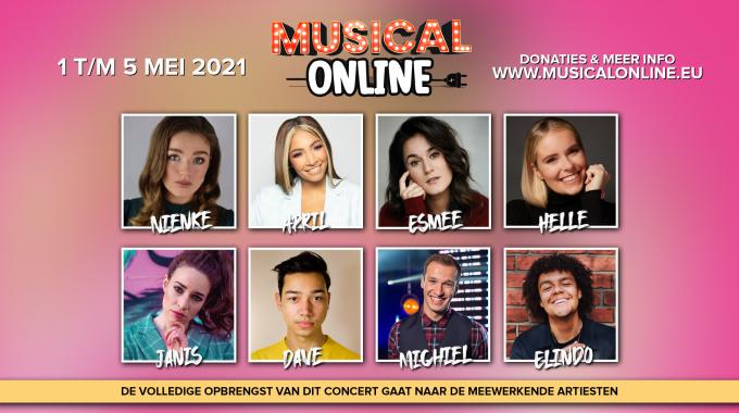 Cast en première derde Musical Online concert is bekend
